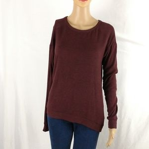 Harlowe & Graham lightweight sweater small maroon
